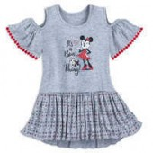 Minnie Mouse and Figaro Cold Shoulder Dress for Girls