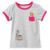 Lady and the Tramp Ringer Tee for Girls