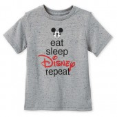 Mickey Mouse ''Eat Sleep Disney'' T-Shirt for Boys
