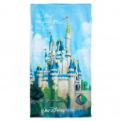 Cinderella Castle Beach Towel - Walt Disney World