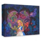 Alice in Wonderland In the Heart of Wonderland Giclee on Canvas by Michael Humphries