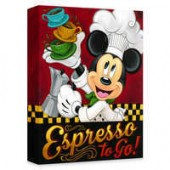 Mickey Mouse Espresso to Go! Giclee on Canvas by Tim Rogerson