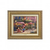 ''Mickey and Minnie Sweetheart Cafe'' Canvas Classic by Thomas Kinkade Studios