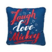 Mickey Mouse Laugh Love Mickey Throw Pillow