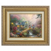 ''Mickey and Minnie Sweetheart Bridge'' Canvas Classic by Thomas Kinkade Studios