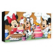 Mickey Mouse and Friends Happy Kitchen Giclee on Canvas by Michelle St. Laurent