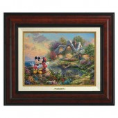 ''Mickey and Minnie Sweetheart Cove'' Canvas Classic by Thomas Kinkade Studios