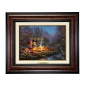 ''Mickey and Minnie Sweetheart Campfire'' Canvas Classic by Thomas Kinkade Studios - Framed
