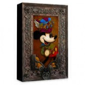 Mickey Mouse Mickey Through the Gears Giclee on Canvas by Krystiano DaCosta