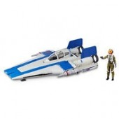 Resistance Pilot Tallie Action Figure and A-Wing Fighter Force Link 2.0 Set - Star Wars: The Last Jedi
