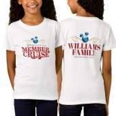 Disney Vacation Club Member Cruise Two-Sided Fitted T-Shirt for Girls - White - Customizable