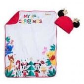 Mickey Mouse and Friends Blanket and Hat Set for Baby - Personalizable
