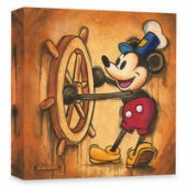 Mickey Mouse Happy Skipper Giclee on Canvas by Trevor Carlton