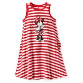 Minnie Mouse Striped Dress for Girls - Red