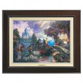 ''Cinderella Wishes Upon a Dream'' Framed Canvas Classic by Thomas Kinkade