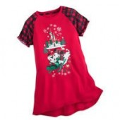 Mickey and Minnie Mouse Holiday Nightshirt for Girls