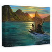 Moana Sailing into the Sun Giclee on Canvas by Walfrido Garcia