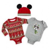 Mickey Mouse Holiday Bodysuit Set for Baby - Walt Disney World