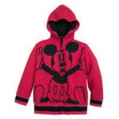 Mickey Mouse Zip-Up Hooded Fleece for Boys