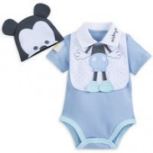Mickey Mouse Layette Romper and Bib Set for Baby