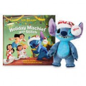 Stitch Poseable Plush and Holiday Mischief with Stitch Book Set