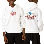 Disney Vacation Club Member Cruise Two-Sided Pullover Hoodie for Kids - White - Customizable