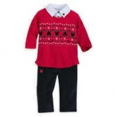 Santa Mickey Mouse Sweater and Pants Set for Baby