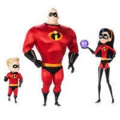 Mr. Incredible, Violet, and Dash Doll Set - Disney Designer Collection PIXAR Animation Studios Series - Limited Edition