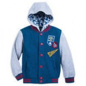 Mickey Mouse Hooded Fleece Varsity Jacket for Boys