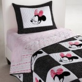 Minnie Mouse Mad About Minnie Quilt by Ethan Allen