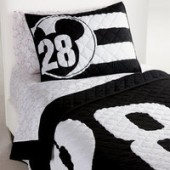 Mickey Mouse 28 Varsity Quilt by Ethan Allen