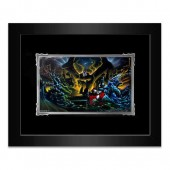 Sorcerer Mickey Mouse ''Great Flood'' Framed Deluxe Print by Noah