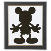 Mickey Mouse Silhouette IV Framed Giclee on Archival Paper by Ethan Allen
