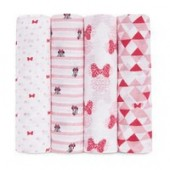 Minnie Mouse Muslin Swaddles Set by aden by aden + anais
