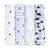 Mickey Mouse Muslin Swaddles Set by aden by aden + anais