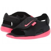Nike Kids Sunray Adjust 5 (Infantu002FToddler) Black/Racer Pink/White