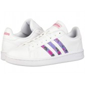 adidas Originals Grand Court White/Glow Blue/Shock Pink
