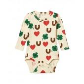 Clover All Over Printed Long Sleeve Bodysuit (Infant)