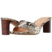 Monica Mule in Embossed Snake
