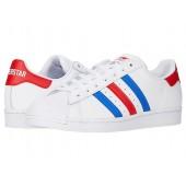 adidas Originals Superstar White/Blue/Team Red