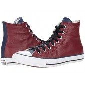 Converse Chuck Taylor All Star Three-Color Leather Hi Team Red/Obsidian/White