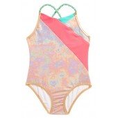 Iridescent One-Piece Swimsuit