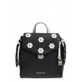 MICHAEL Michael Kors Small Flower Embellished Leather Backpack