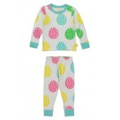 Rainbow Eggs Organic Cotton Fitted Two-Piece Pajamas