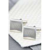 Monogram Square Cuff Links