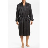 Dot Silk Robe