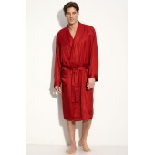 Herringbone Stripe Silk Robe