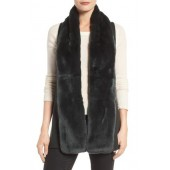 Genuine Rabbit Fur & Knit Vest
