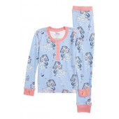 Disney  Beauty & The Beast Fitted Two-Piece Pajamas