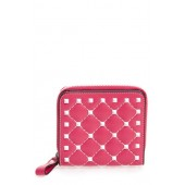 Rockstud Matelass Leather French Wallet